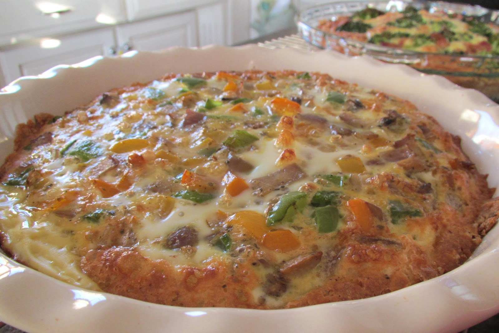 Veggie Quiche w/ Hearty Buttermilk Biscuit Crust