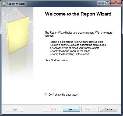 Create matrix report in ssrs