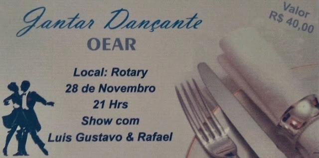 Roncador: Compartilhe e concorra a um convite para o Jantar Dançante da OEAR