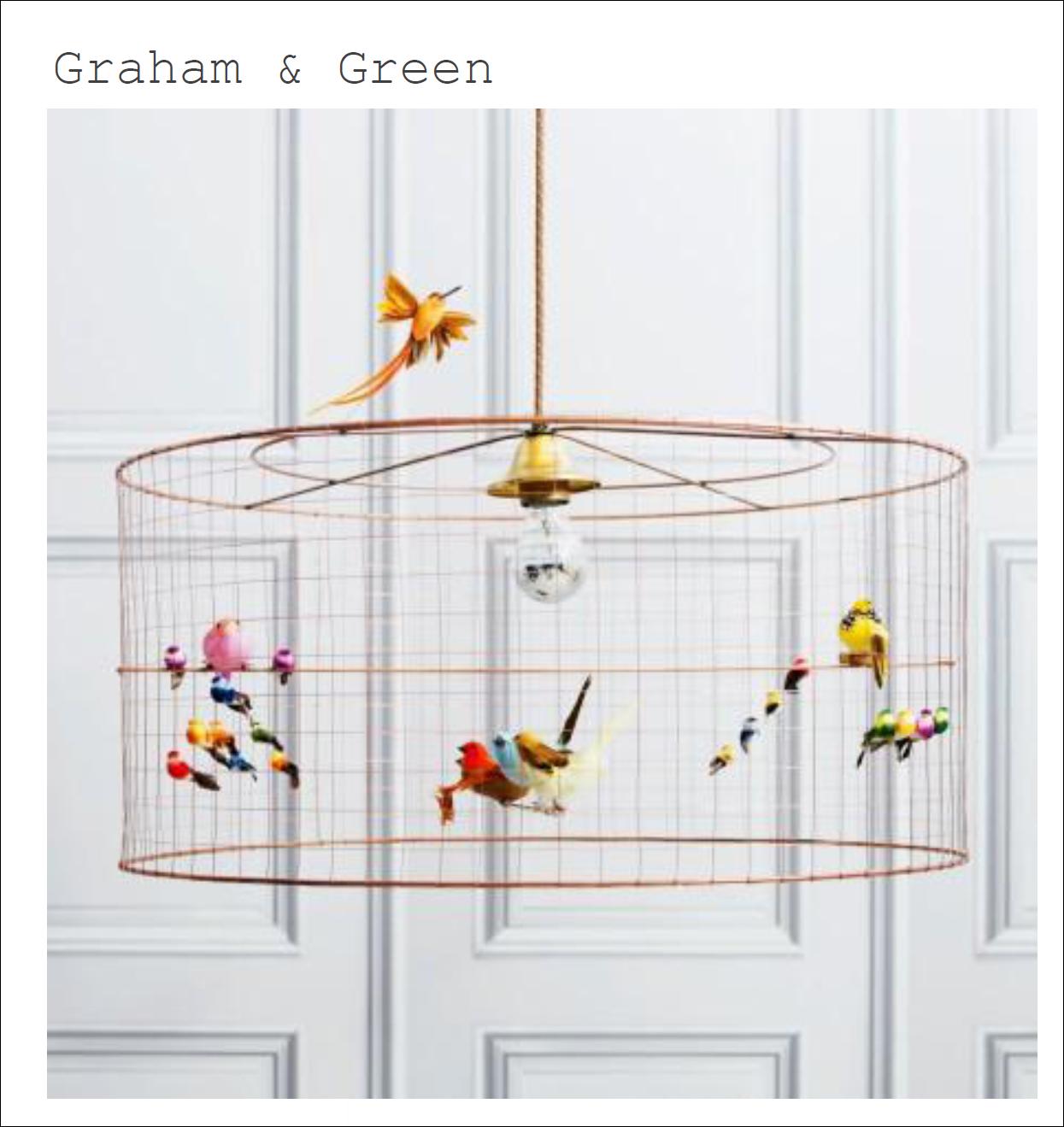 Medium Birdcage Chandelier 470 Graham Green