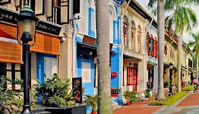 kampong arab, kawasan etnis arab, ruko-ruko, warna-warni, tempat wisata di singapore