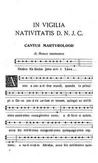 Liturgia Latina: Proclamation of Christmas