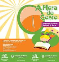 cartel hora do conto nas bibliotecas de Oleiros