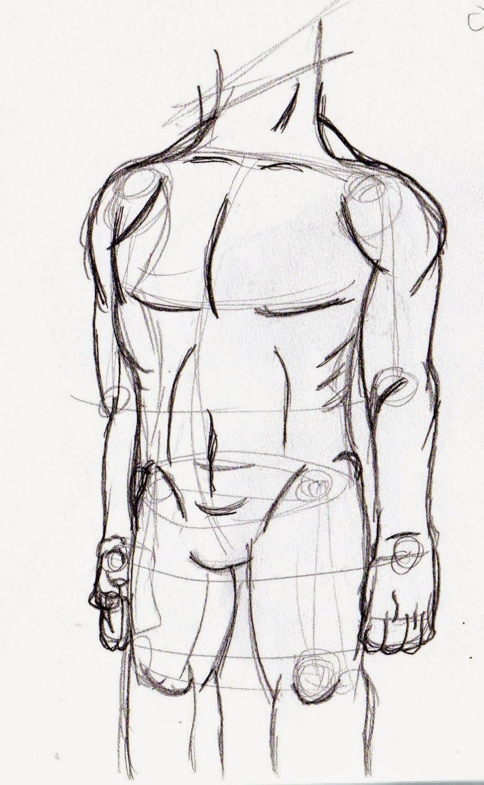 1 Día 1 Dibujo: Anatomía - Cuerpo Masculino
