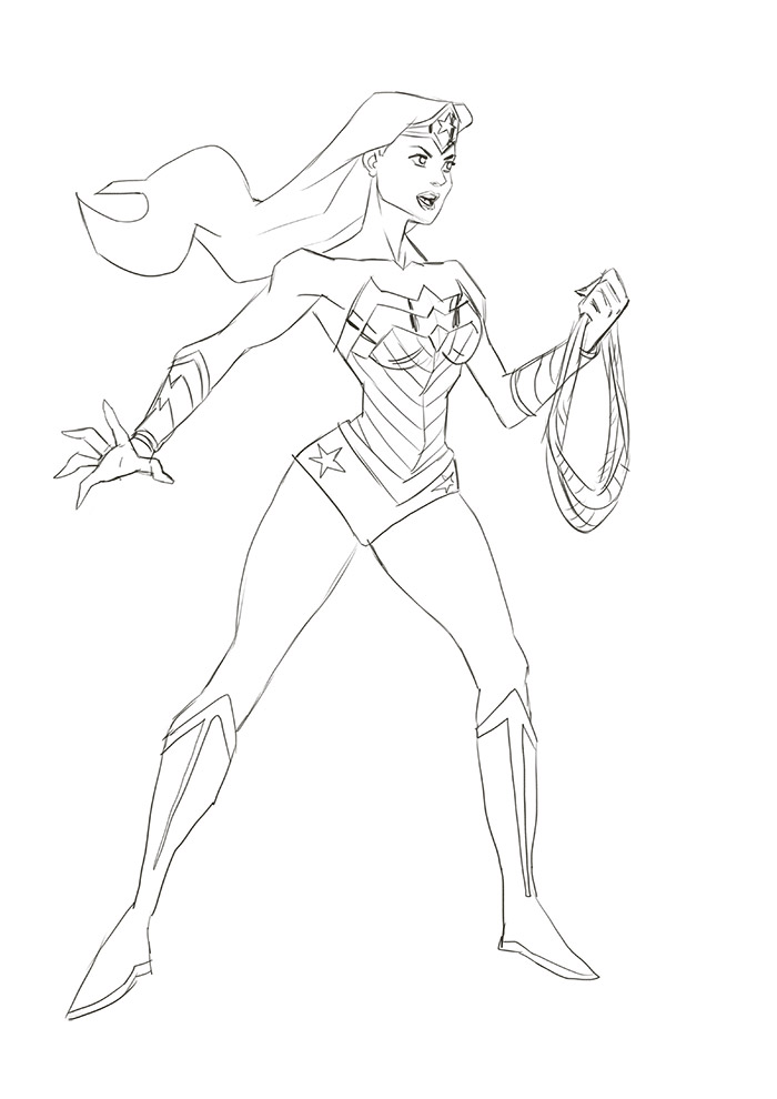 Let\'s Animate: Wonder Woman Sketch