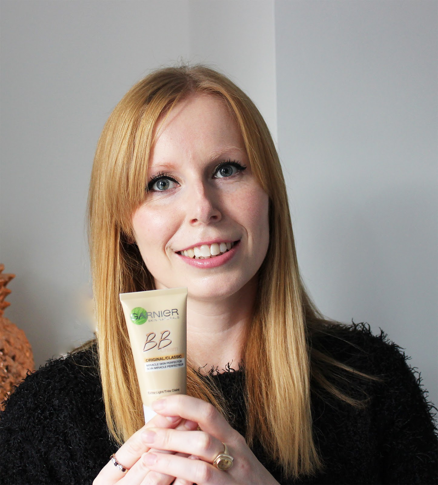 Garnier BB Cream Extra light reviewed by pale faced beauty blogger - shown on skin