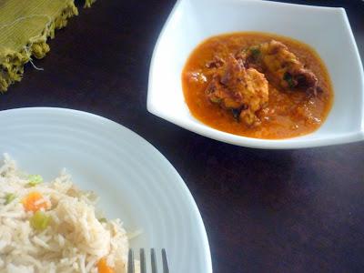 Lauki Pakori Ki Sabzi - Side dish for Pulao