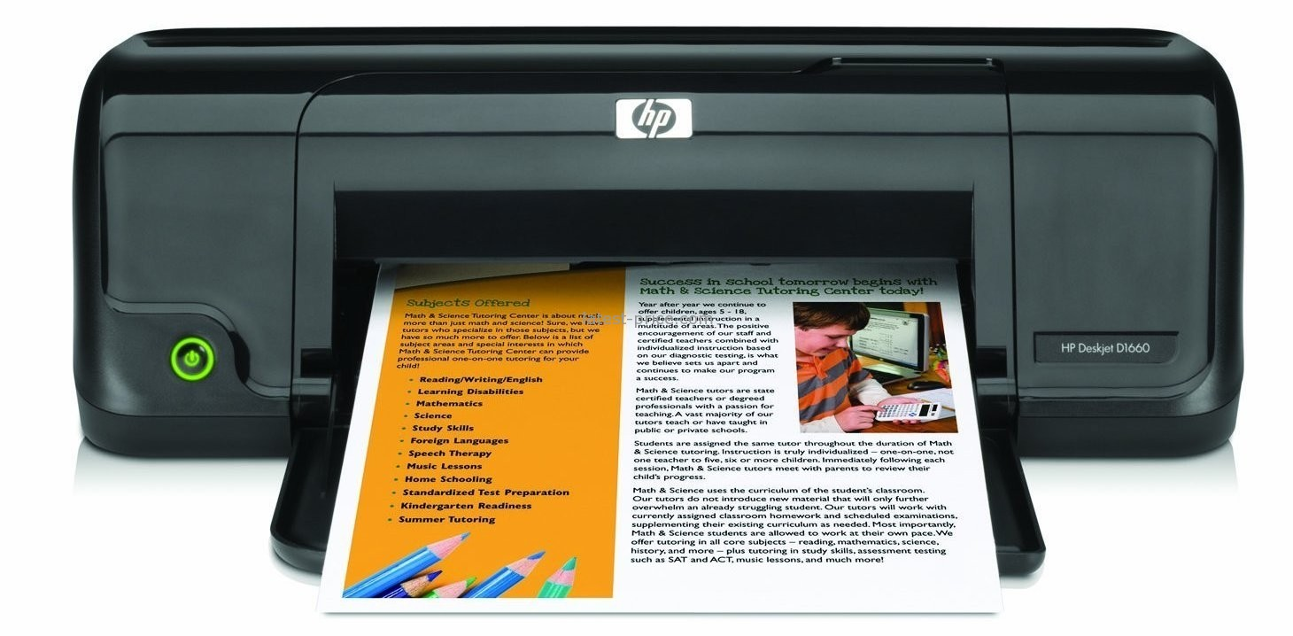 Spesifikasi: Printer Smart Home HP Deskjet D1660