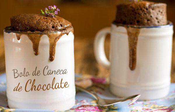 {RECEITA} Bolo de caneca de Chocolat