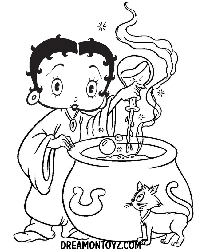 betty bop coloring pages - photo#18
