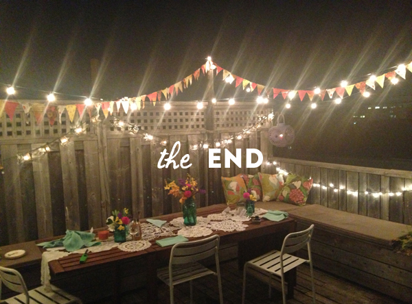 Events summer rooftop outdoor dinner party the sweet for Terrace party decoration ideas