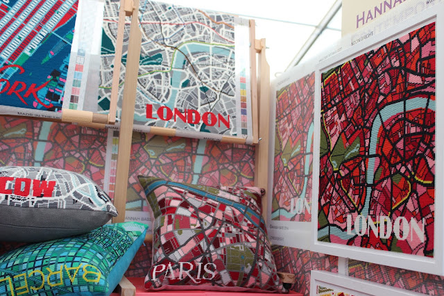 Hannah Bass map tapestry - The Handmade Fair