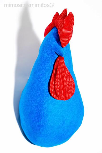 cabeza gallo tela decoración interiorismo interiores accesorios rooster head handmade hecho a mano craft