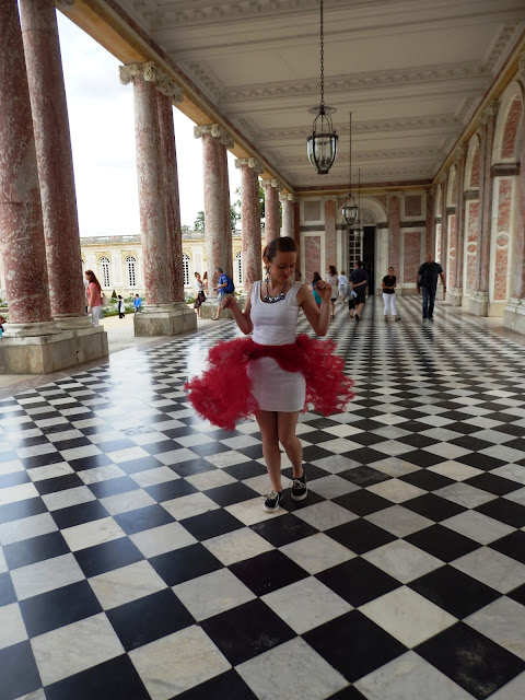 Versailles Chanel Red and White Panniers Grand Trianon