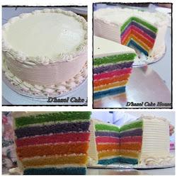 New-Italian Rainbow cake