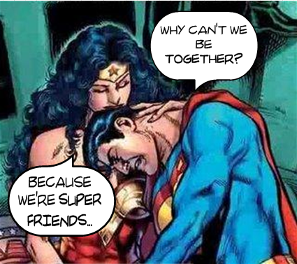 superman wonderwoman friendzone super friends