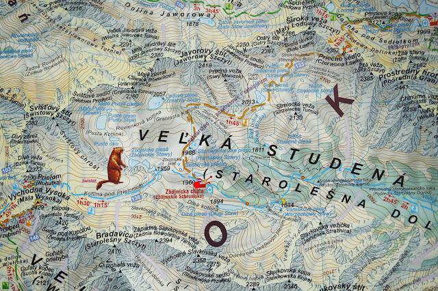 Zbojnicka Chata na mapie
