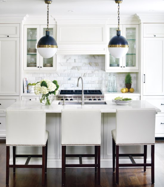 White Kitchen with Backsplash