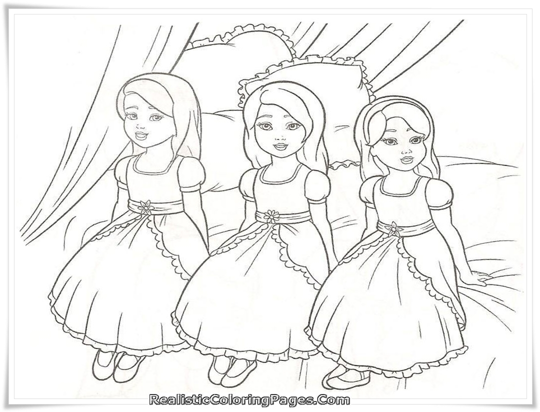 Barbie And The Diamond Castle Printable Coloring Sheet