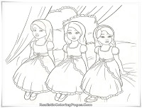Printable Barbie And The Diamond Castle Coloring Sheet