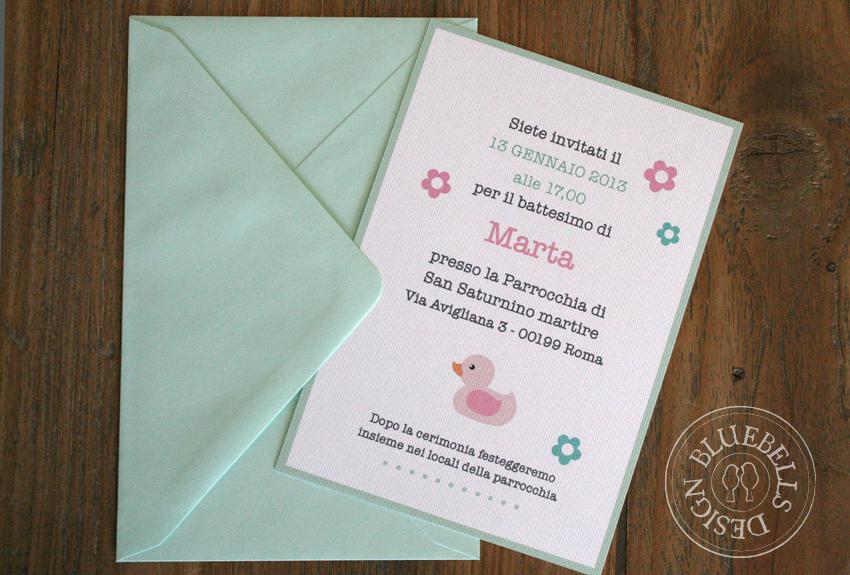 Favorito Bluebells Design: Battesimo in rosa e verde menta ET81
