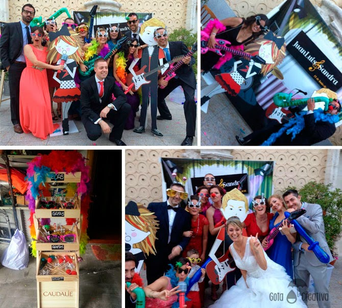 photocall boda rock Gota Creativa