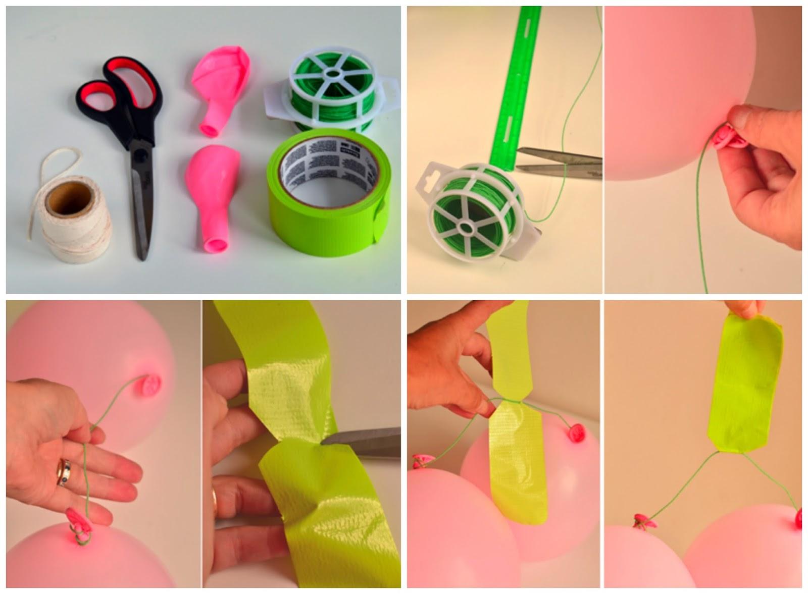 Diy guirnalda hecha con globos for Decoracion del hogar paso a paso