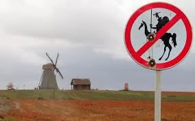 Don Quixote Funny Sign