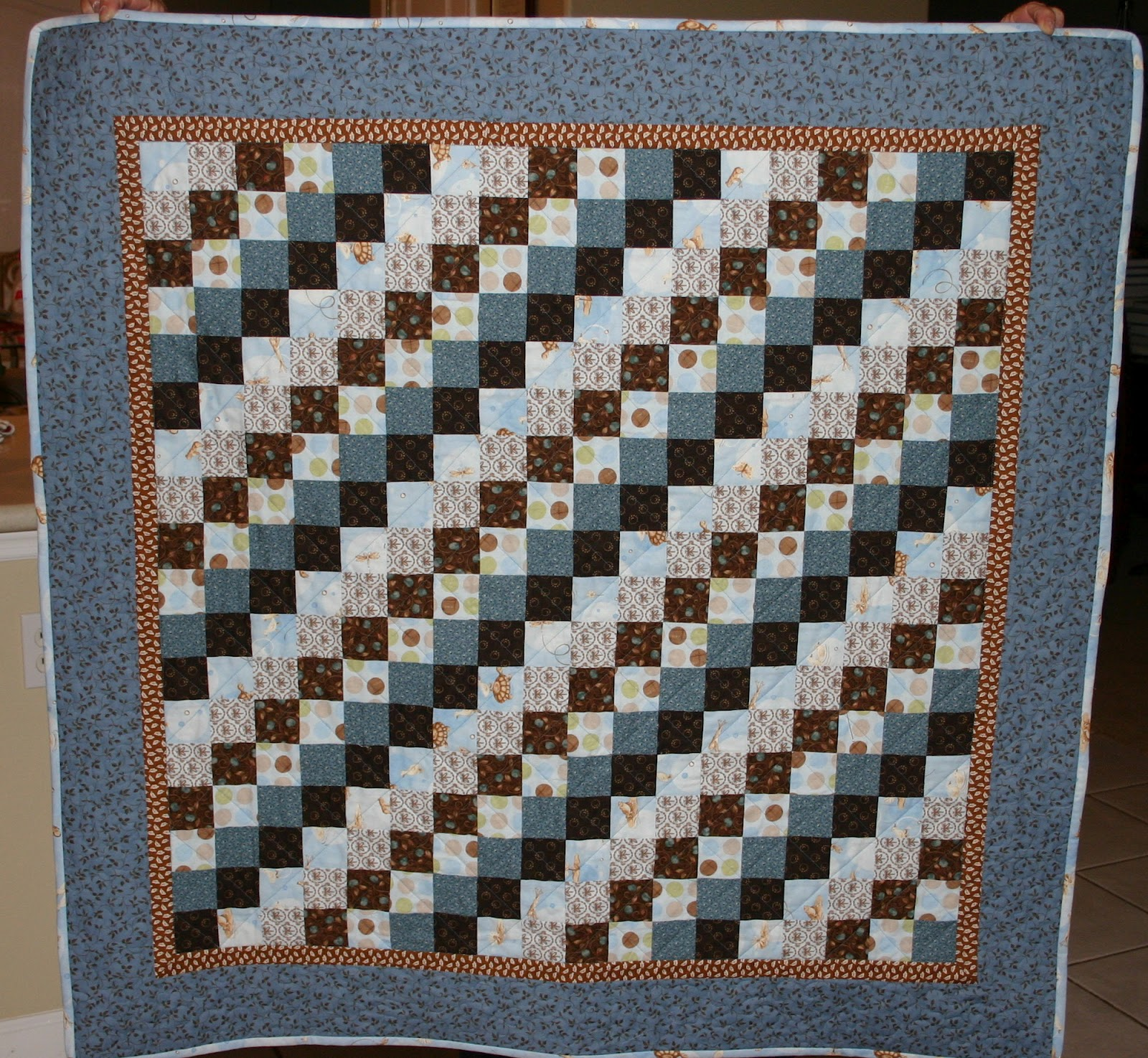 variegated and to blue abyquilts for on img medium freehanded below picture click the quilting i photo in loops design leaves shaped a heart quilt quilts tag thread enlarge