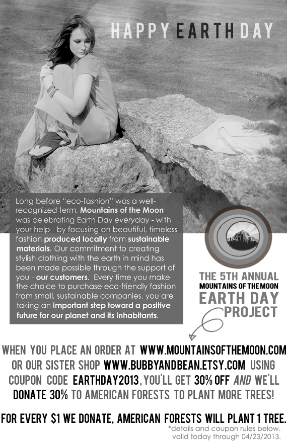 The 5th Annual Mountains of the Moon Earth Day Project