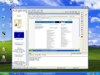صورة من داخل برنامج Screenshot Captor