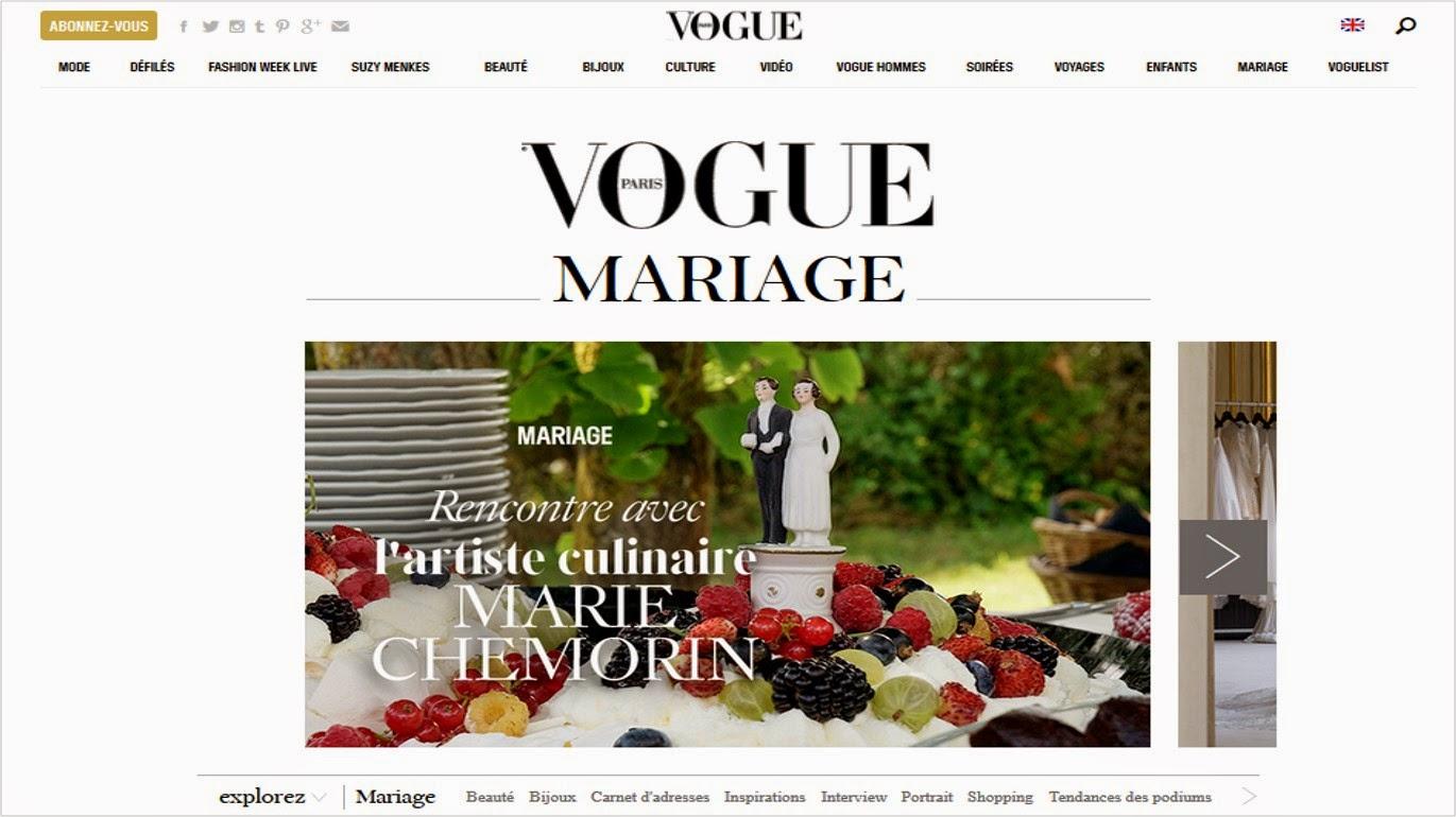 Vogue mode site blog mariage inspiration bonnes idées newsletter ThatsMee.fr