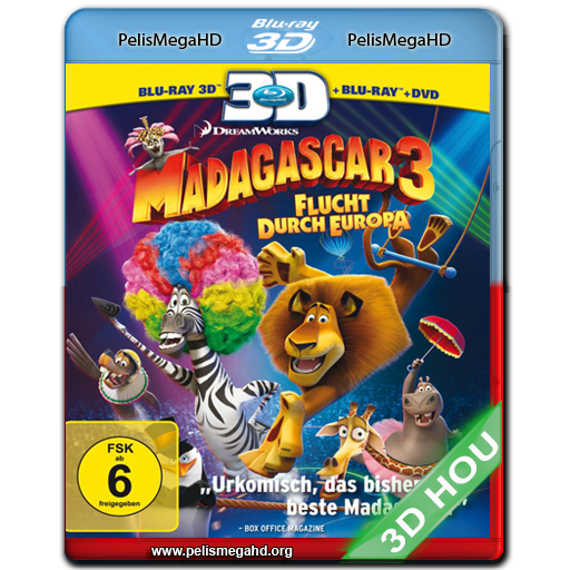MADAGASCAR 3 (2012) FULL 3D HALF OU 1080P HD MKV ESPAÑOL LATINO