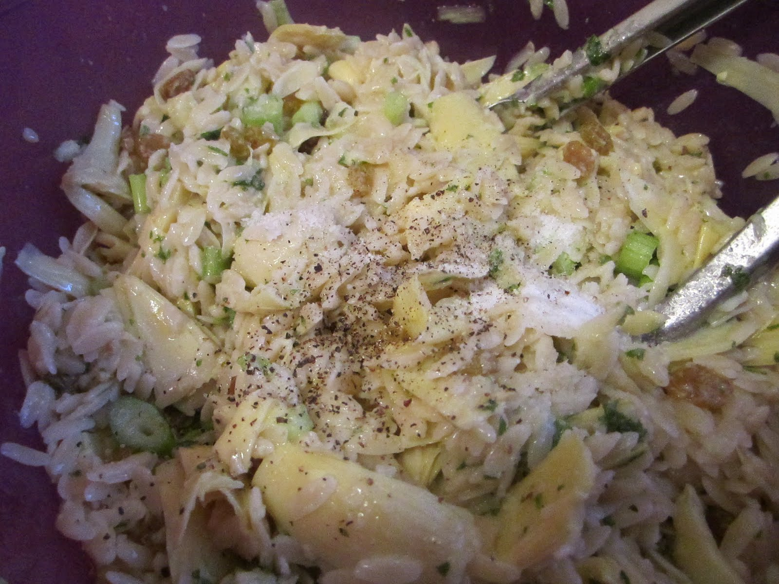 Orzo Salad with Artichoke Hearts, Pine Nuts, and Golden Raisins ...
