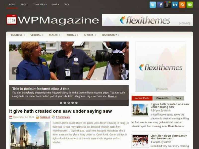 WPMagazine- Free Wordpress Theme