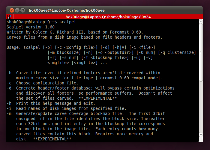 Scalpel: salah satu aplikasi file recovery di Linux