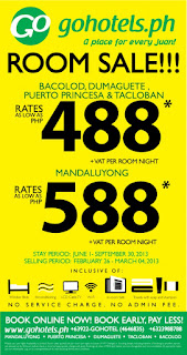 go hotels room sale june-september 2013