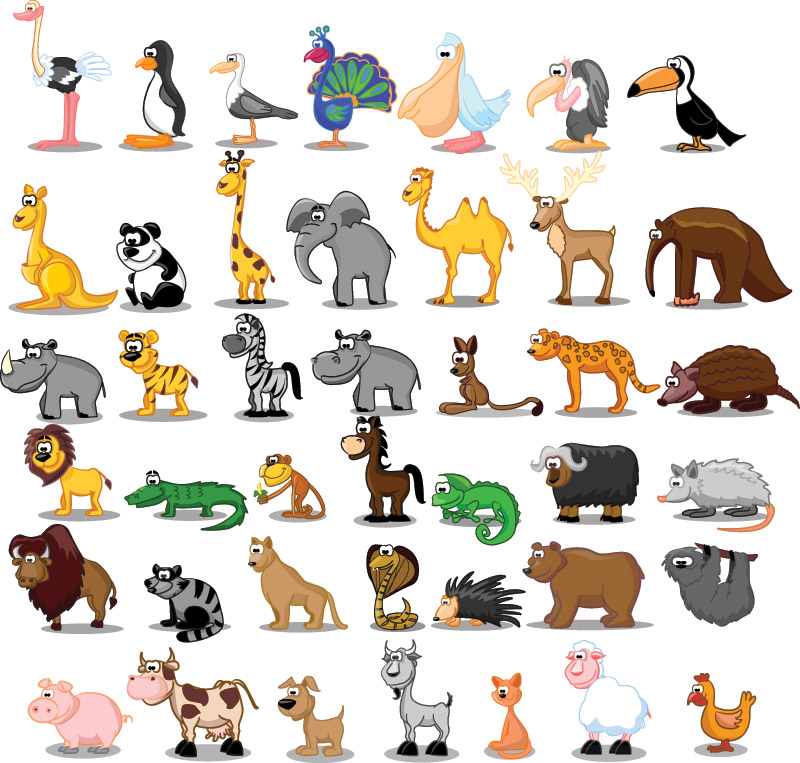 hello friends today we like to share cartoon animal vector collection ...