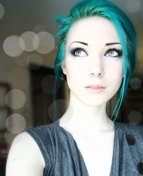beautiful blue cute hair