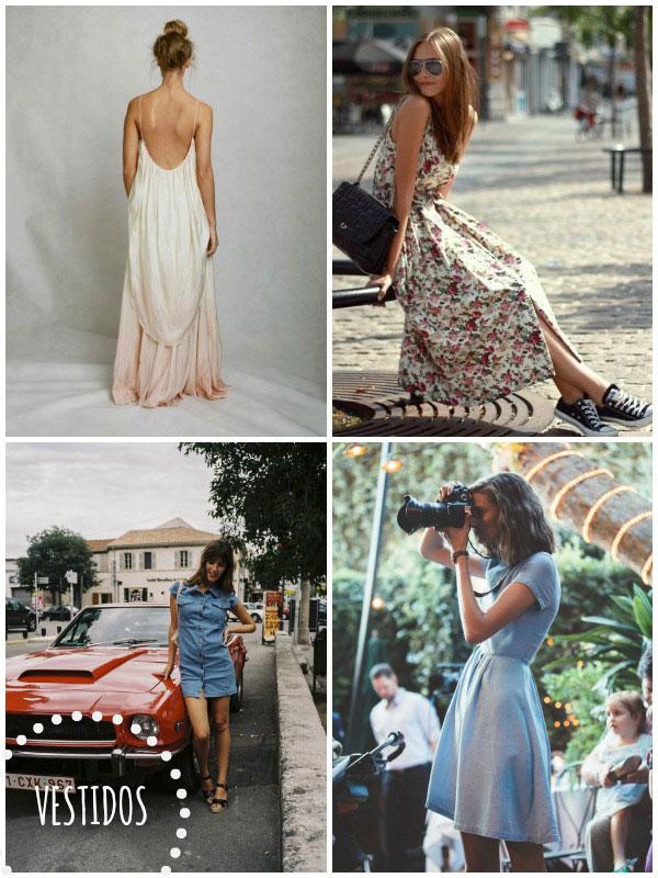 vestidos vaqueros y vestidos largos tendencias