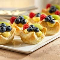 Vanilla Fruit Tarts