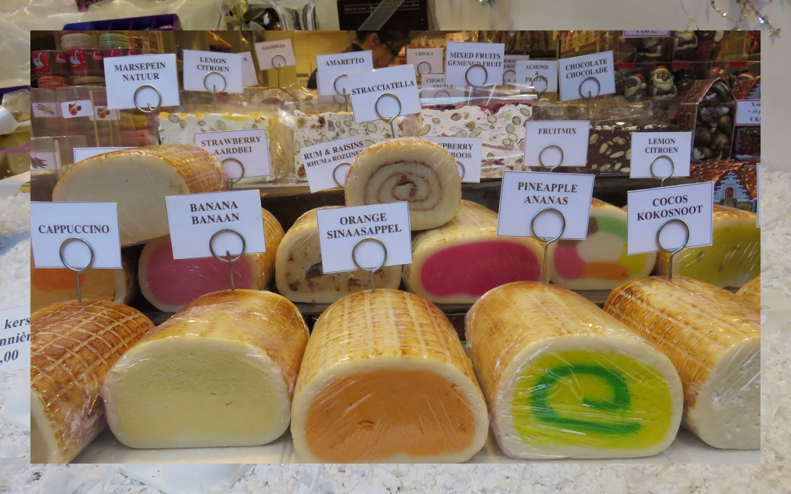 Marzipan logs in Bruges