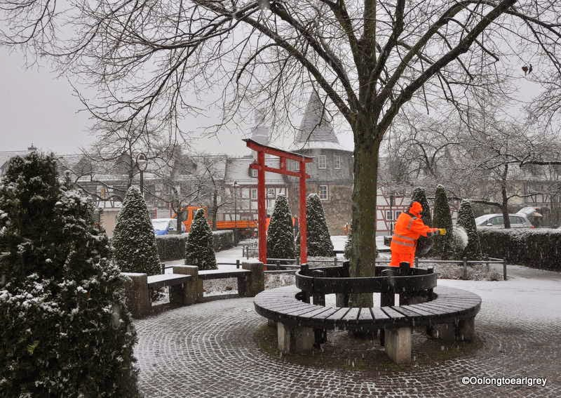 Snow in Hofheim, Germany
