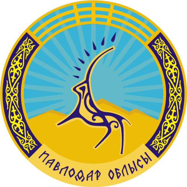 """""""Beyaz Maral"""" dan esinlenilmiş Kazakistan Pavlodar Bölgesi Arması"""