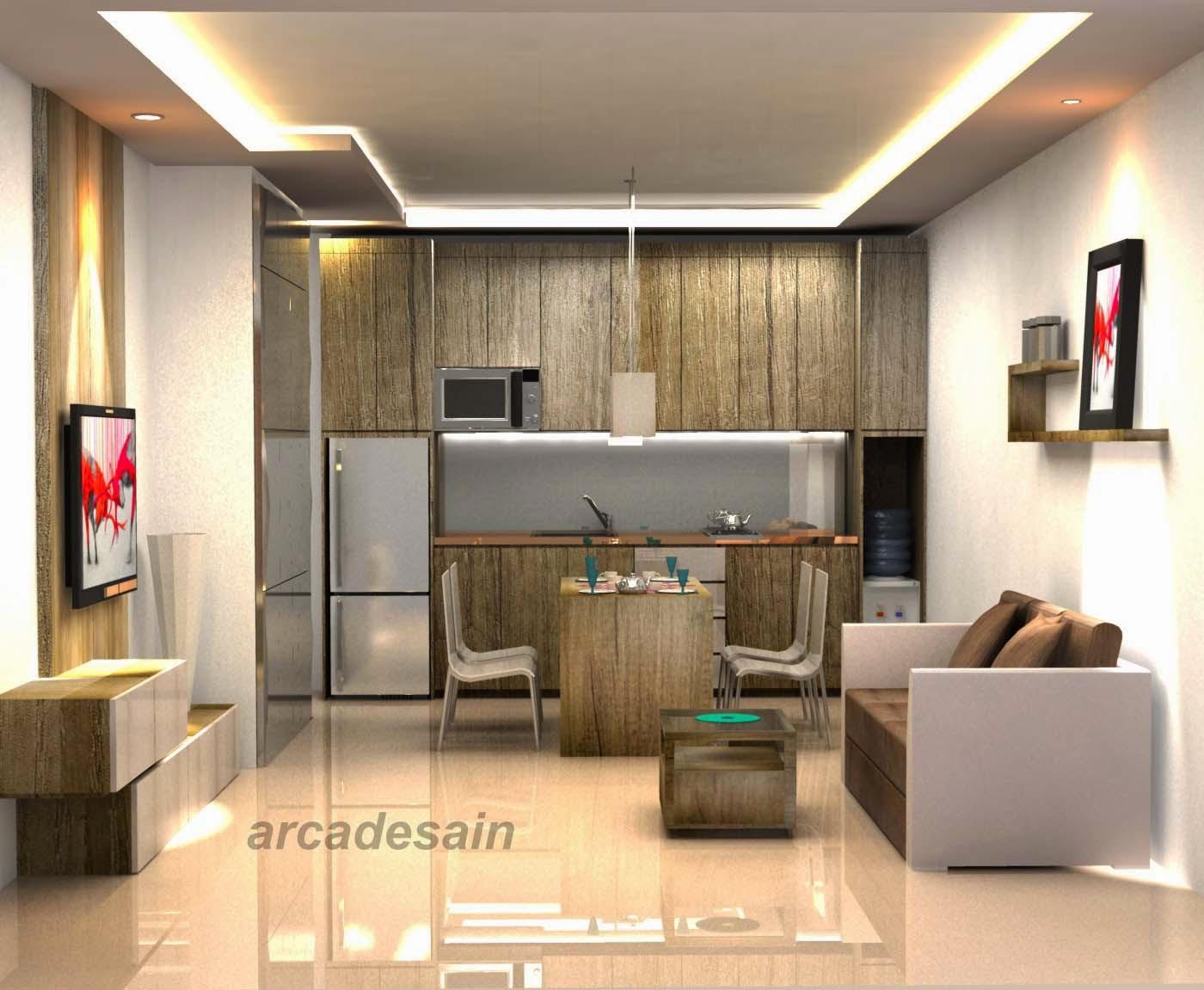 Arcadesain desain interior apartemen green palace type for Desain apartemen studio 21m