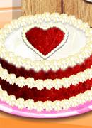 Торт Красный бархат - Онлайн игра для девочек