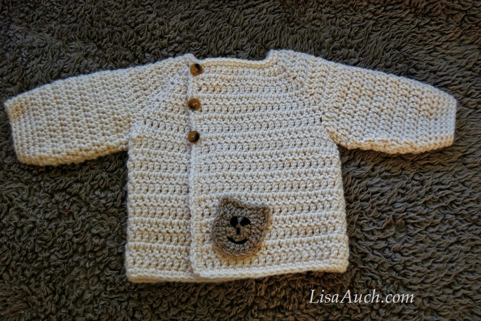 Free Crochet Pattern For A Baby Sweater : Baby Cardigans, Crochet Cardigans Patterns, Free Crochet ...