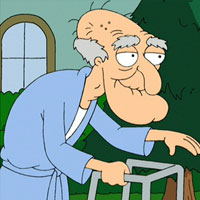 The Top 50 Animated Characters Ever: 23. John Herbert (Family Guy)