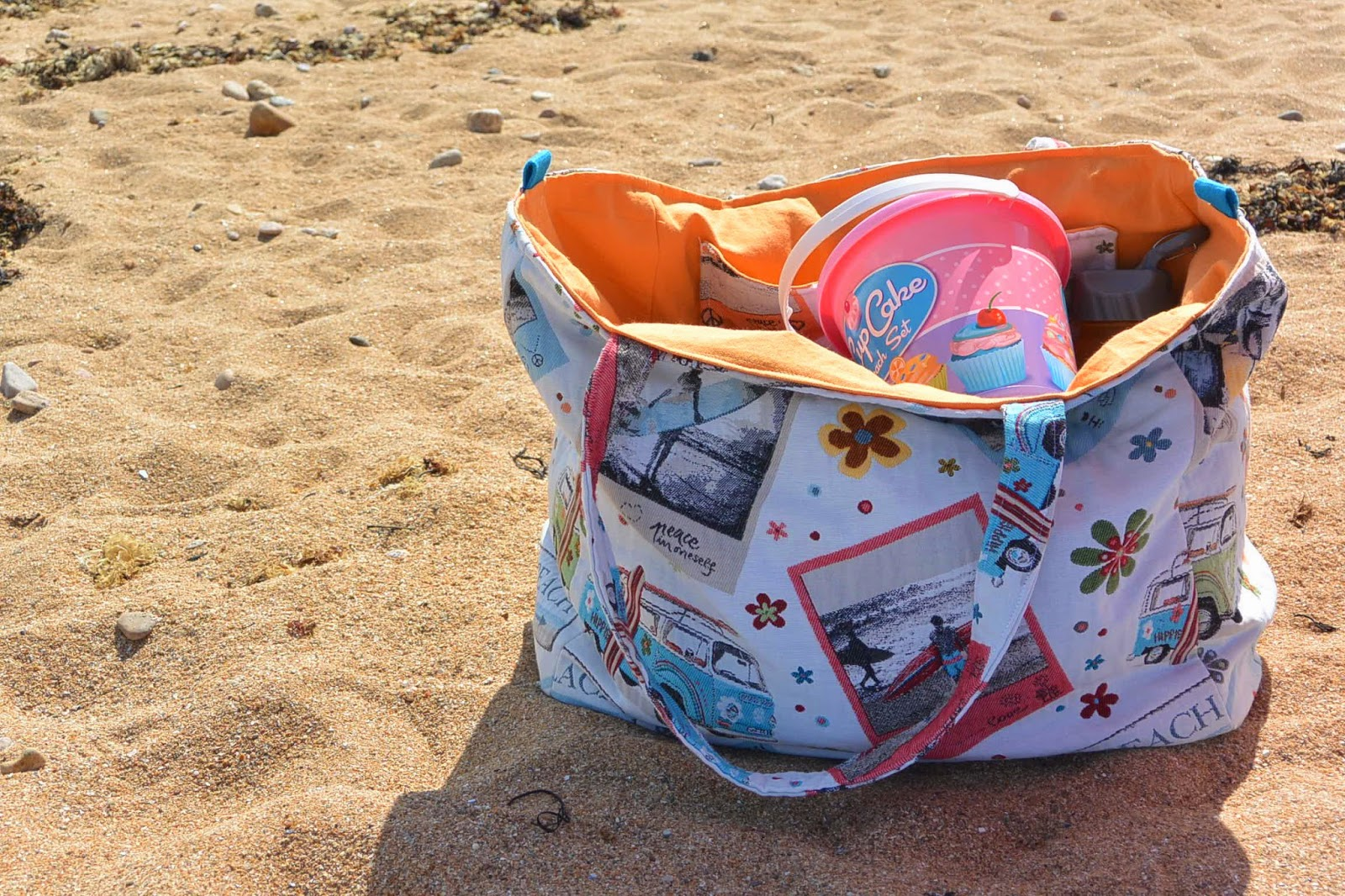 Gros sac de plage esprit surf californie