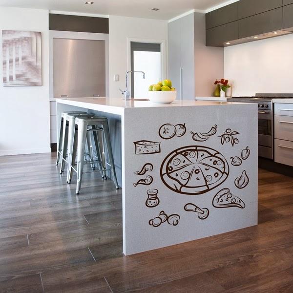 Papel pintado vinilos decorativos cocina - Decorar paredes de cocina ...
